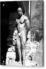 The Bodybuilder Acrylic Print by Jake Hartz