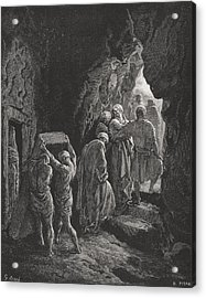 The Burial Of Sarah Acrylic Print by Gustave Dore