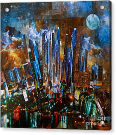 The City Acrylic Print