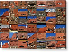 The City's Eyes Sibiu Hermannstadt Romania Acrylic Print