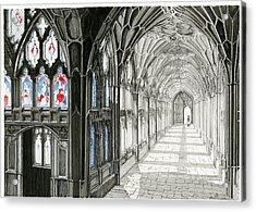The Cloisters Acrylic Print by John Simlett