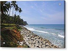 The Coast At Varkala In Kerala India Acrylic Print by Robert Preston