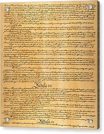 The Constitution, 1787 Acrylic Print by Granger