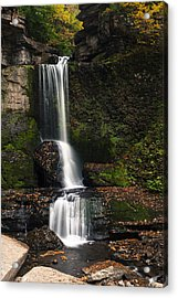 The Cowshed Falls Acrylic Print by Chris Babcock