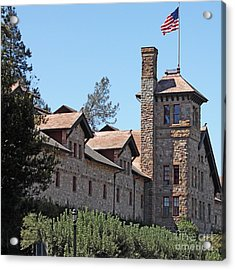 The Culinary Institute Of America Greystone St Helena Napa California 5d29498 Square Acrylic Print by Wingsdomain Art and Photography