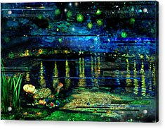 The Death Of Ophelia Rectangles Acrylic Print
