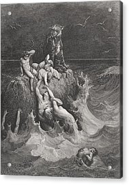 The Deluge Acrylic Print by Gustave Dore