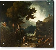 The Destruction Of Niobes Children Acrylic Print by Richard Wilson
