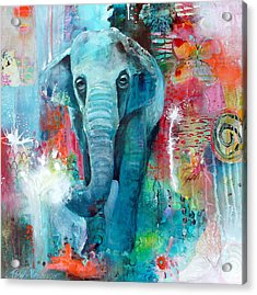 The Elephant And The Butterfly Acrylic Print