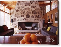 The Eliot Noyes Ski Cabin 1964 Acrylic Print by The Harrington Collection