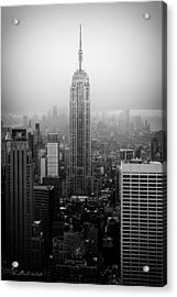 The Empire State Building In New York City Acrylic Print by Ilker Goksen