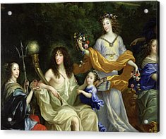 The Family Of Louis Xiv 1638-1715 1670 Oil On Canvas Detail Of 60094 Acrylic Print by Jean Nocret