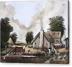 The Farmyard Acrylic Print