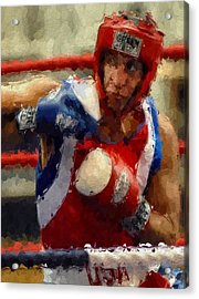 The Fighter Acrylic Print by Stefan Kuhn