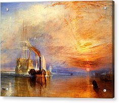 The Fighting Temeraire Tugged To Her Last Berth To Be Broken Up Acrylic Print by J M W Turner