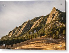 The Flatirons 2 Acrylic Print by Aaron Spong