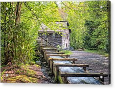 The Flume At Mingus Mill Acrylic Print