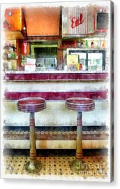 The Four Aces Diner Acrylic Print by Edward Fielding