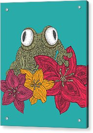 The Frog Acrylic Print by Valentina Ramos