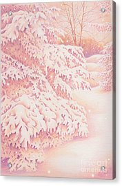 The Gently Falling Snow Acrylic Print