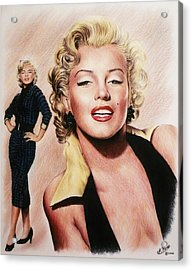 The Glamour Days Marilyn Monroe Acrylic Print