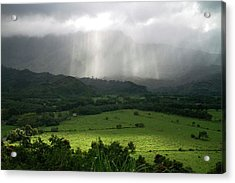 The Green Valley Surrounding Hanalei Acrylic Print