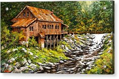 The Grist Mill Acrylic Print by Jim Gola