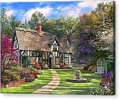 The Hideaway Cottage Acrylic Print by Dominic Davison