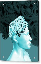 The Human Mind Acrylic Print by Victor Habbick Visions