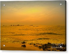 The Indian Ocean In The Gloaming Of The Sunset Acrylic Print by Regina Koch