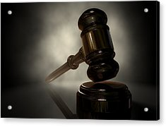 The Justice Gavel Acrylic Print by Allan Swart