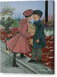 The Kiss Acrylic Print by Linda Simon