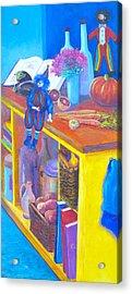 The Kitchen Bench Acrylic Print by Jan Matson
