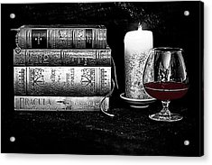 The Last Sip Acrylic Print by Jacque The Muse Photography