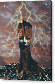 The Last Tree Standing Acrylic Print by Larry Butterworth