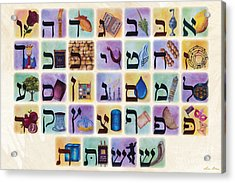The Living Letters Acrylic Print by Sara Blau