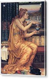 The Love Potion Acrylic Print by Evelyn De Morgan
