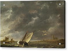 The Maas At Dordrecht In A Storm Acrylic Print