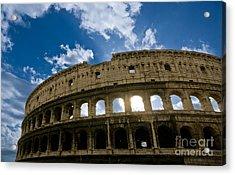 The Majestic Coliseum - Rome Acrylic Print by Luciano Mortula