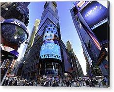 The Nasdaq Stock Market Acrylic Print by E Osmanoglu