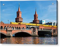 The Oberbaum Bridge In Berlin Germany Acrylic Print