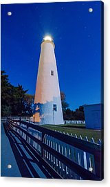 The Ocracoke Lighthouse On Ocracoke Island On The North Carolina Acrylic Print by Alex Grichenko