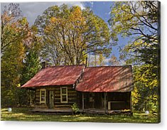 The Old Homestead Acrylic Print by Debra and Dave Vanderlaan