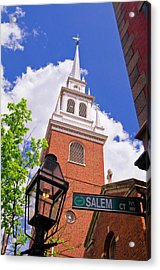 The Old North Church And Gas Street Acrylic Print
