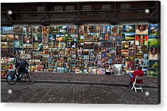 The Open Air Art Gallery Acrylic Print by Panoramic Images