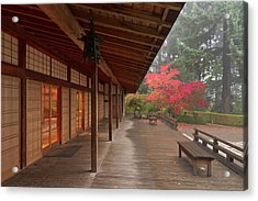 The Pavilion At The Portland Japanese Acrylic Print by William Sutton