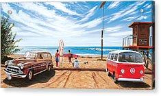 The Point San Onofre Acrylic Print by Steve Simon
