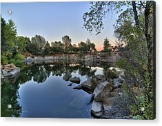 Acrylic Print featuring the photograph The Quinn Quarry by Jim Thompson
