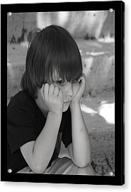 The Real Thinker Acrylic Print by B Wayne Mullins