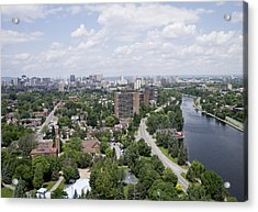 The Rideau Canal And Downtown, Ottawa Acrylic Print